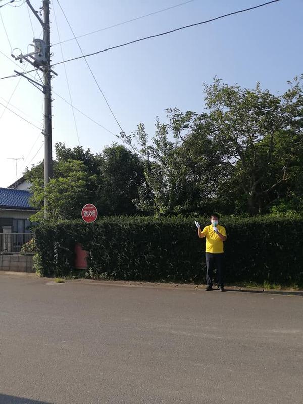 早朝の龍ケ崎市駅にて早朝の街頭活動を実施しました。