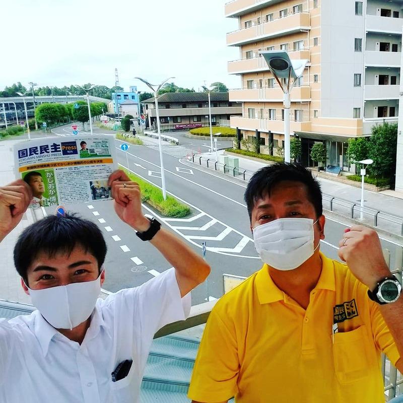 常磐線ひたち野うしく駅にて駅頭活動を実施しました。