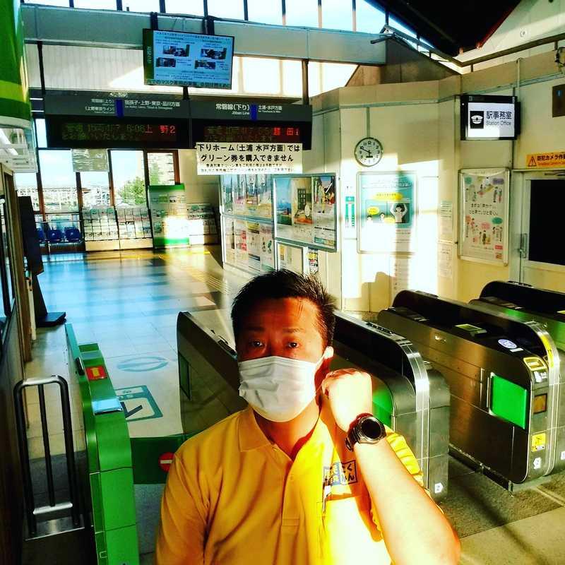 2日連続、藤代駅にて駅頭活動を実施しました。