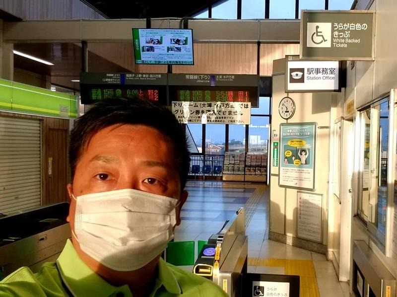 早朝の常磐線の藤代駅にて駅頭活動を実施しました。