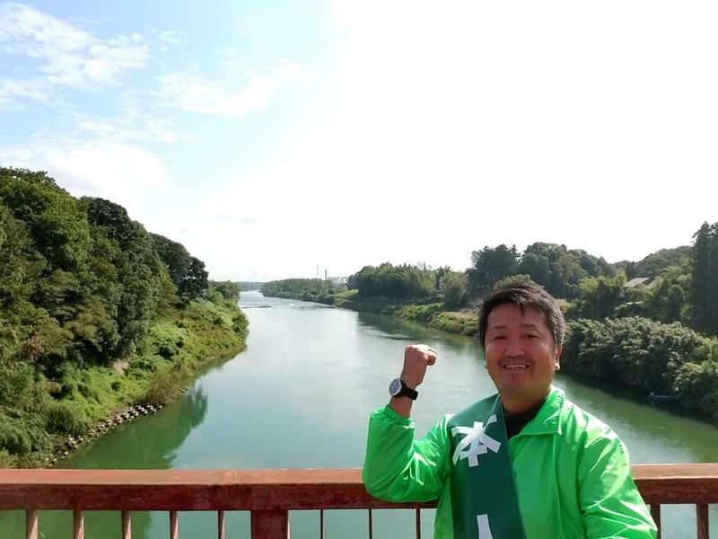 本日は、バイクで茨城3区一周遊説をしています。