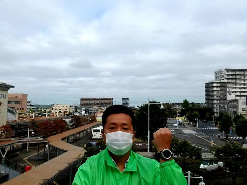 今朝は守谷駅東口にて駅頭活動を実施しました。