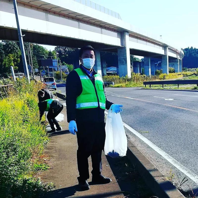 道路里親ボランティアの第1回目の活動に参加しました。