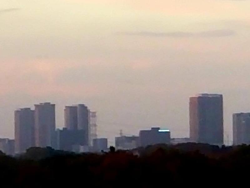 茨城からの柏の葉キャンパスの眺めです🌅
