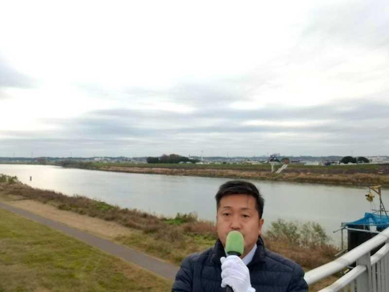 今朝は、#利根町 の栄橋にて、ご挨拶をさせていただきました。