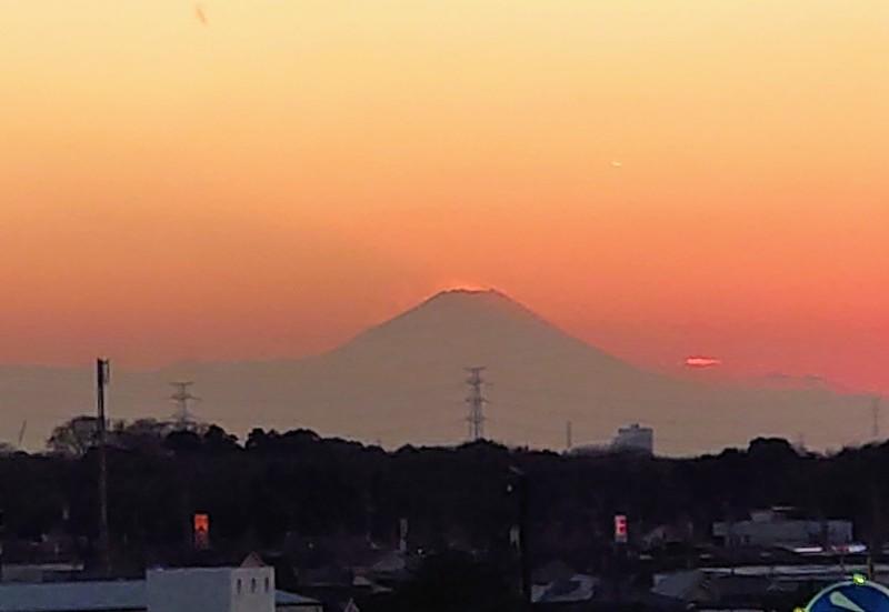 茨城県守谷市から望む富士山