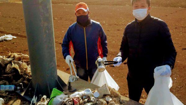 阿見町県道48号線道路里親ボランティアの清掃活動に参加