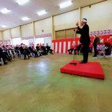 河内町長選挙が告示され小更まさゆき候補の出陣式へ